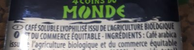 Café soluble lyophilisé AMÉRIQUE LATINE - Ingrédients - fr