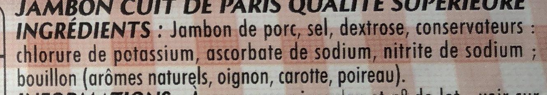 Mon Paris 25% de sel en moins - Ingrédients - fr