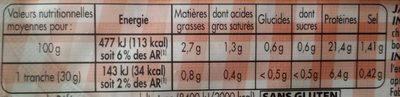 Mon Paris 25% de sel en moins - Informations nutritionnelles - fr