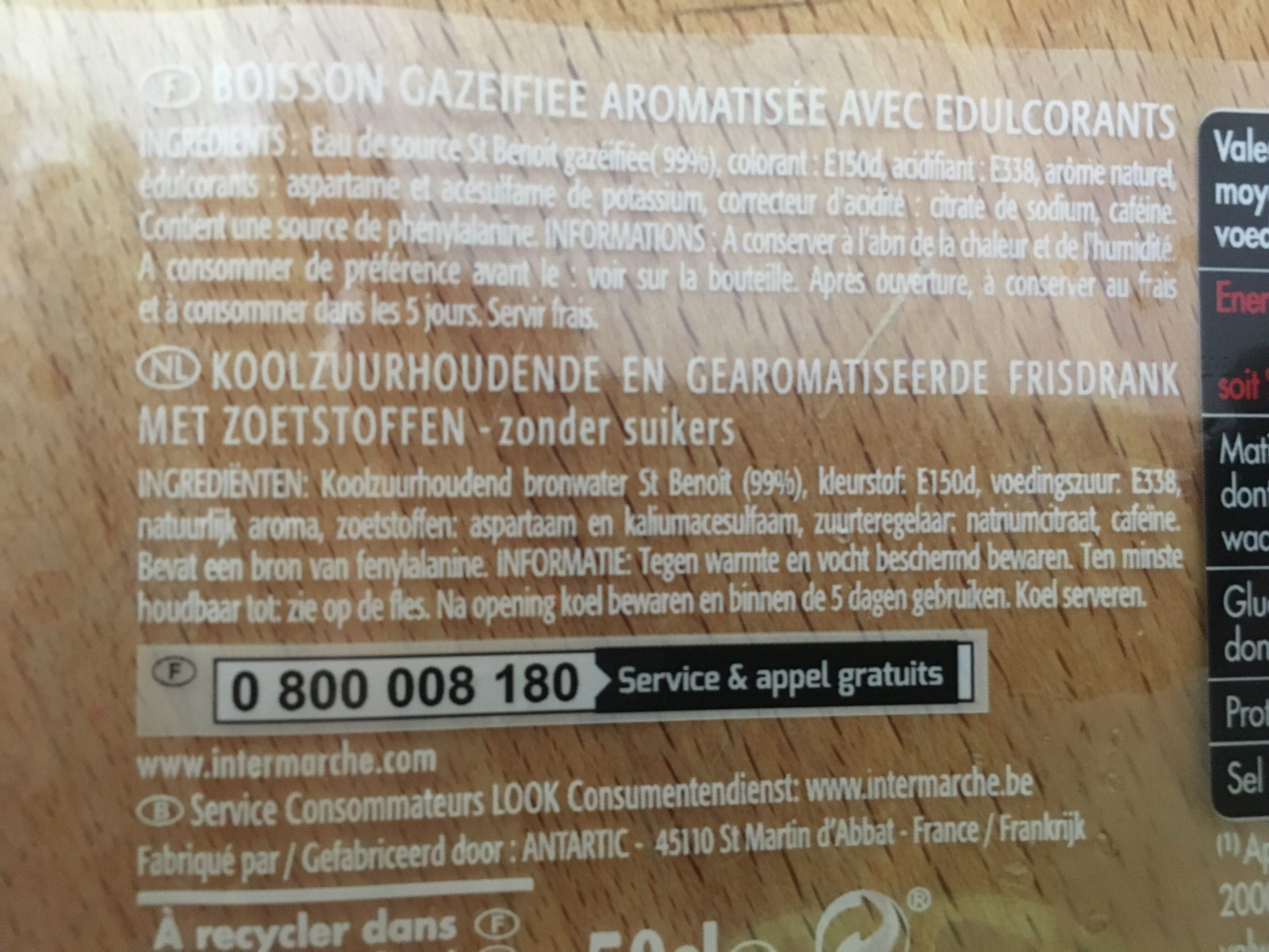 Cola Zero - Ingrédients - fr