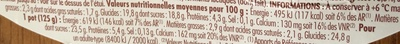 Yaourt pur brebis sur lit de cerises noires - Informations nutritionnelles - fr