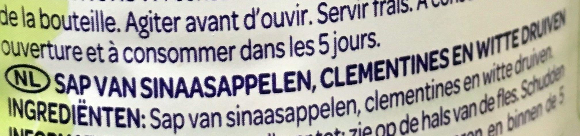 100% Pur jus Douceur du matin - Ingrediënten - nl