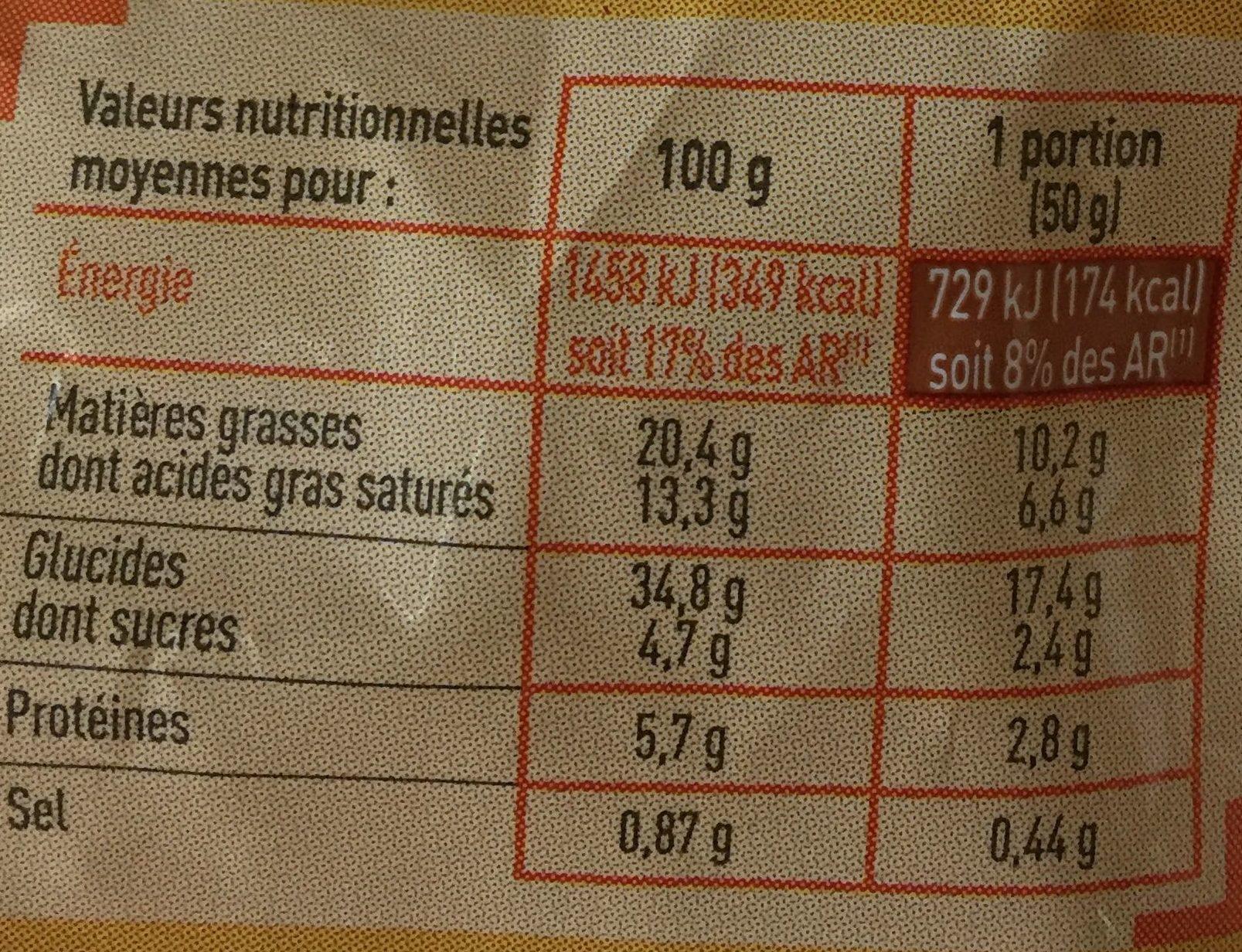 10 Mini croissants - Nutrition facts - fr