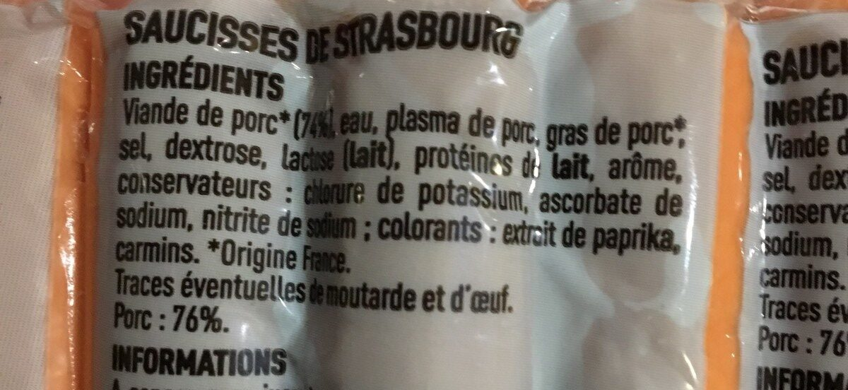 Knack - Ingrédients - fr
