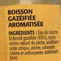 Look intense saveur pêche - Ingrédients - fr