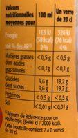 Look intense saveur pêche - Informations nutritionnelles - fr