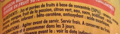 Planteur sans alcool - Ingredients - fr