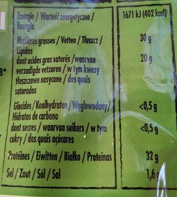 Parmigiano Reggiano AOP râpé - Informations nutritionnelles - fr