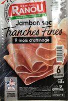 Jambon sec, Tranches fines - Produit - fr