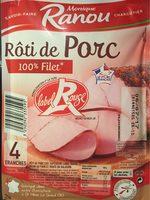 Rôti de porc Label Rouge la barquette de 4 tranches 160 g - Product - fr