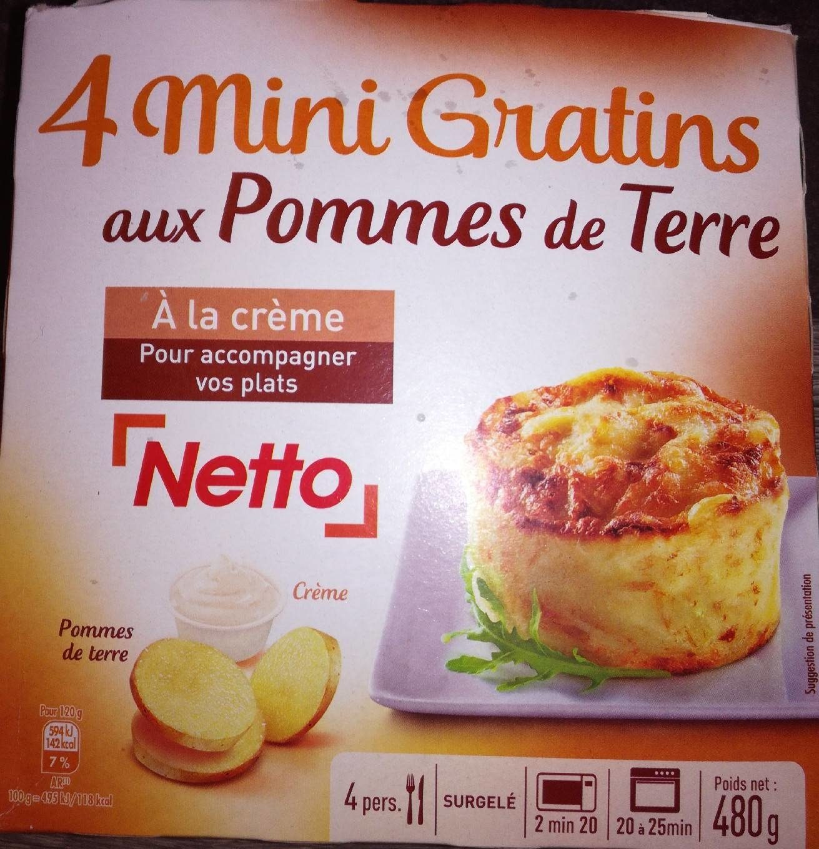 4 mini gratins de pomme de terre - Produit