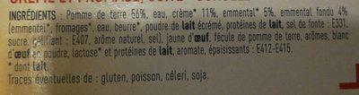 4 mini gratins de pomme de terre - Ingrédients