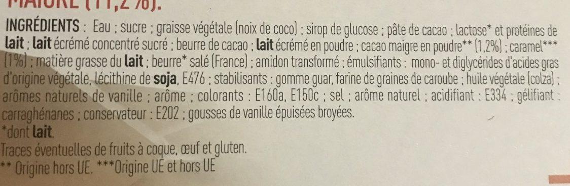 Colosses doubles 4x110ml vanille caramel - Ingrédients