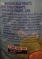 Tropical zero sucres ajoutés **Contient les sucres naturellement présent dans les fruits - Ingredients