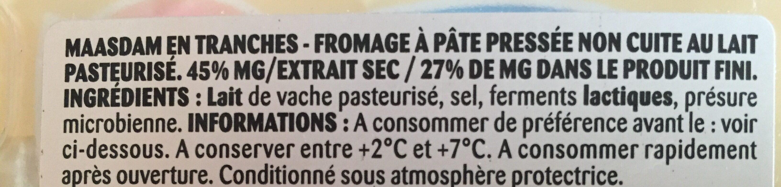 Massdam tranchette - Ingredients - fr