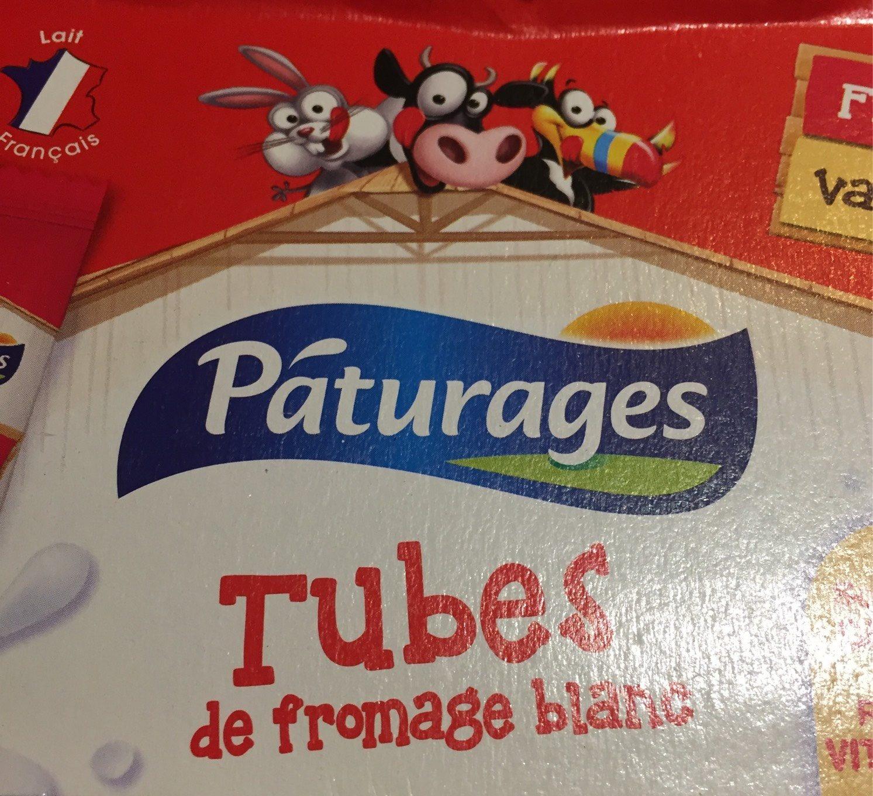 Pâturages Fromage blanc fraise vanille les 12 tubes de 40 g - Produit