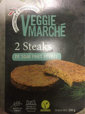 Steaks de soja fines herbes - Produit - fr