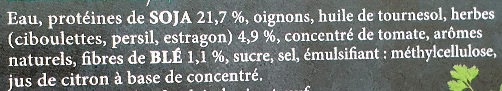 Steaks de soja fines herbes - Ingrédients - fr