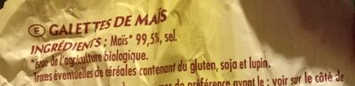 Galettes de maïs - Ingredients