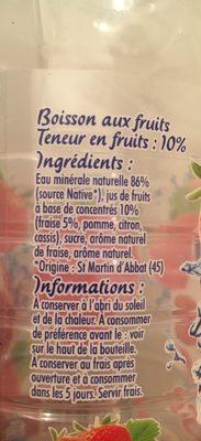 Luchon Boisson O'Jus fraise la bouteille de 1,5 l - Ingrediënten