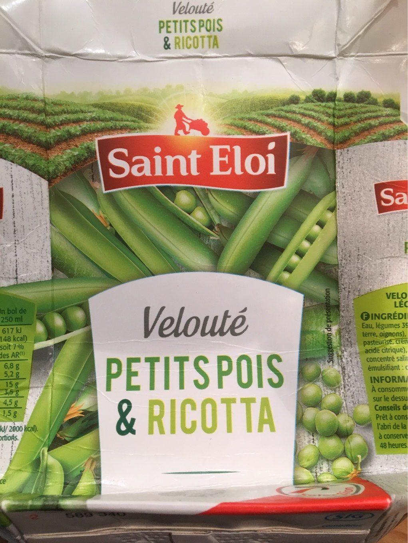Velouté petits pois et ricotta - Produit - fr