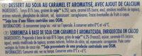 soja caramel dessert végétal - Ingrédients - fr
