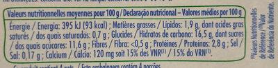 soja caramel dessert végétal - Informations nutritionnelles - fr