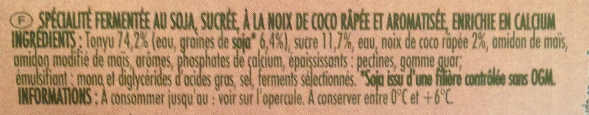 Soja cocospécialité végétale - Ingrédients - fr