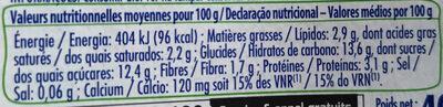 Soja cocospécialité végétale - Informations nutritionnelles - fr