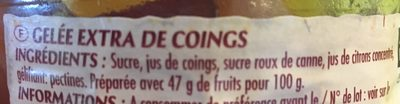 Gelée de coings - Ingredients