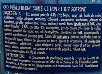 Pavé de Merlu Blanc - Ingredients
