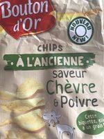 Chips à l'ancienne saveur chèvre & poivre - Produit - fr