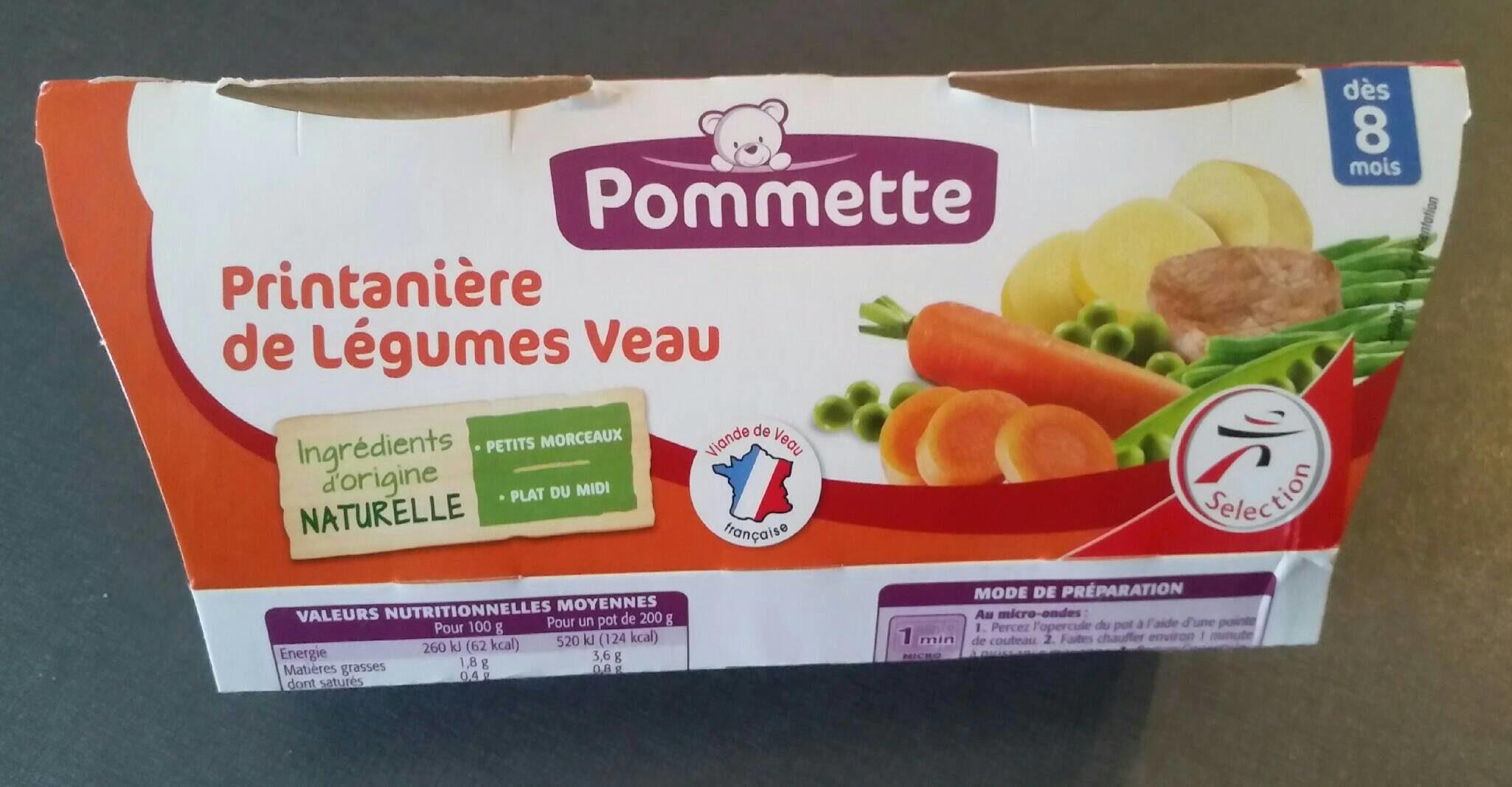 Pommette Printanière de légumes veau, dès 8 mois les 2 pots de 200 g - Produit