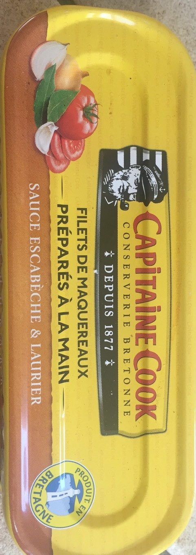 Capitaine Cook Filets de maquereaux sauce escabèche & laurier 169 g - Product