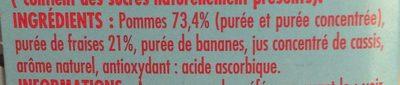 Paquito Spécialité de fruits pomme fraise sans sucres ajouté... les 4 gourdes de 90 g - Ingrédients