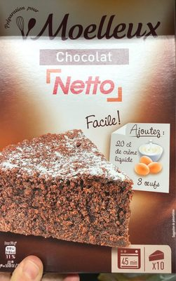 Préparation pour Moelleux au chocolat - Produit - fr