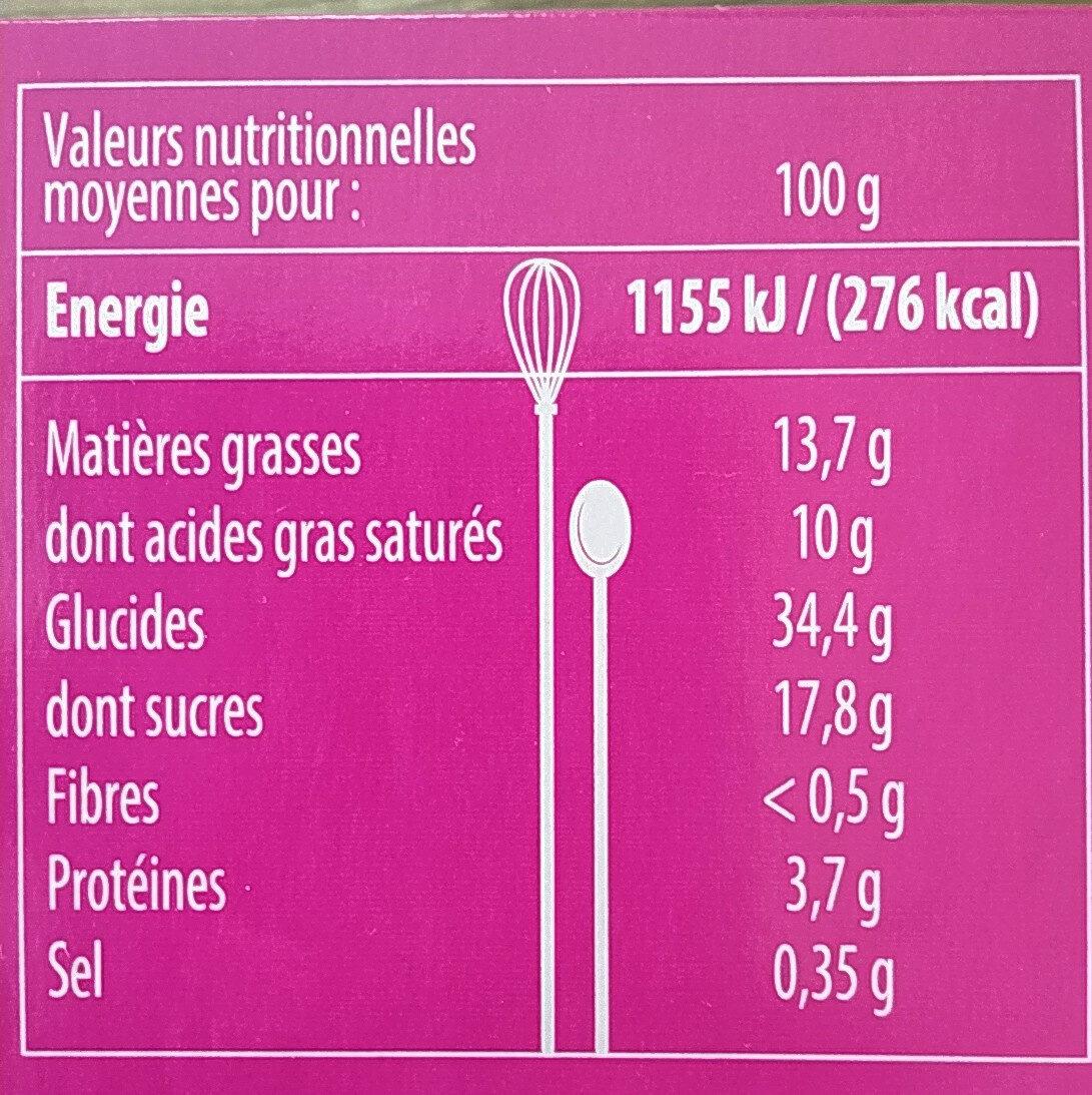 Millefeuille - Valori nutrizionali - fr