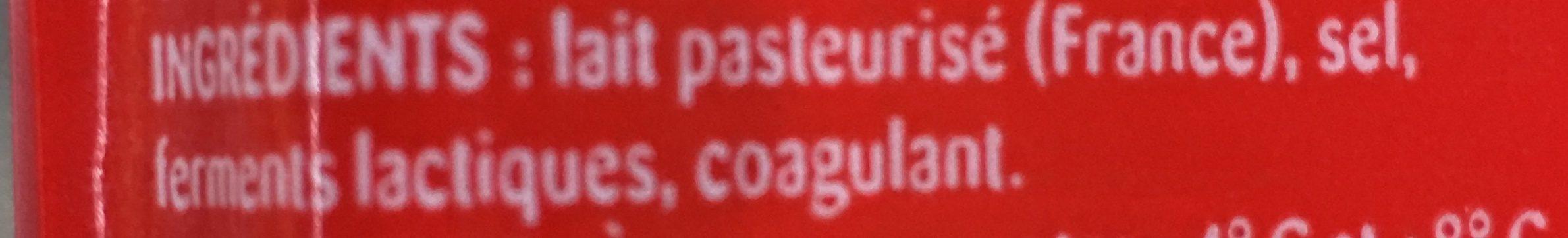 Emmental français réduit en sel - Ingrédients - fr