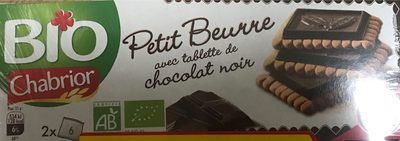 Petit beurre avec tablette de chocolat noir - Produit - fr