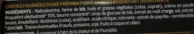 Mini crepes roquefort les croustillantes - Ingrédients - fr