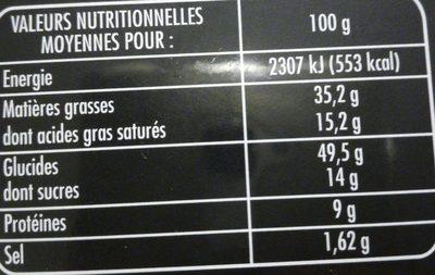Mini crepes roquefort les croustillantes - Informations nutritionnelles - fr