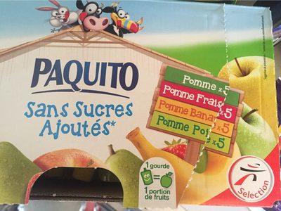 Assortiment de compotes sans sucres ajoutés - Produit - fr