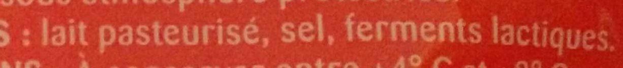 Emmental français râpé -30% de sel - Ingredients