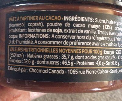 Pate A Tartiner - Ingredients
