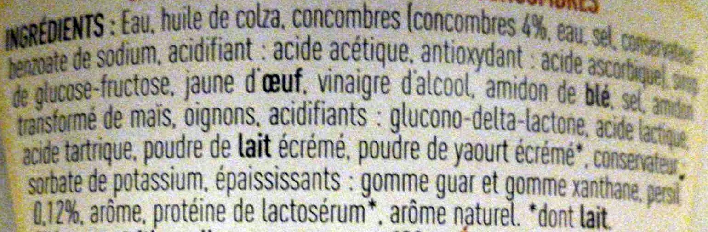 Sauce Kebab - Ingrédients - fr