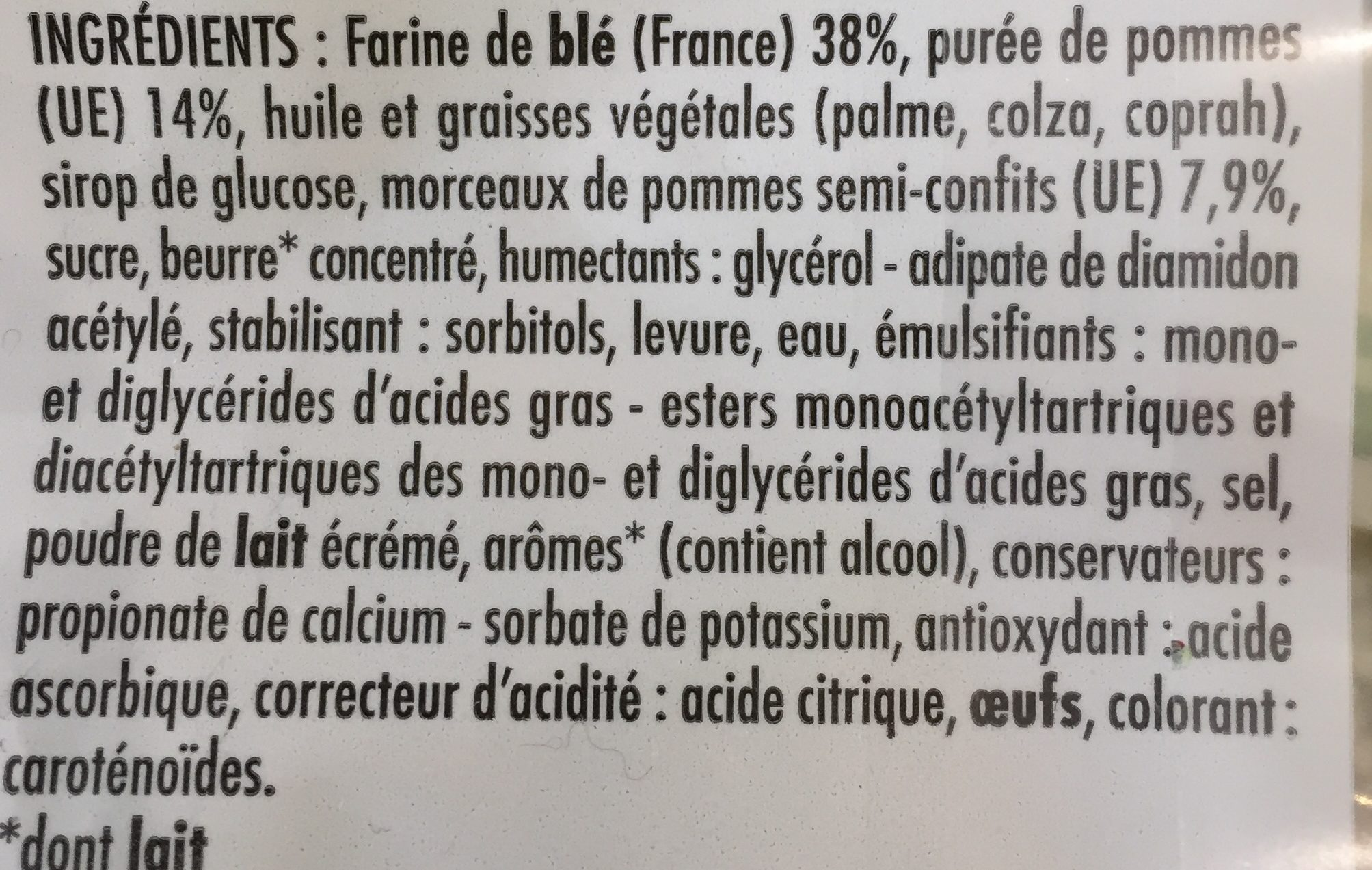 5 Chaussons aux Pommes - Ingredients