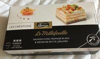 Le Millefeuille Saumon Fumé, Fromage Blanc & Décor de Petits Légumes - Product - fr