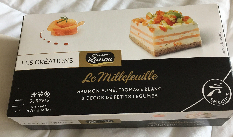 le millefeuille saumon fum fromage blanc d cor de petits l gumes monique ranou 150 g. Black Bedroom Furniture Sets. Home Design Ideas