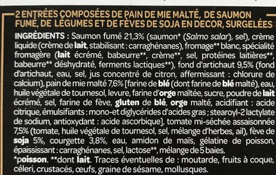Le Millefeuille Saumon Fumé, Fromage Blanc & Décor de Petits Légumes - Ingredients - fr