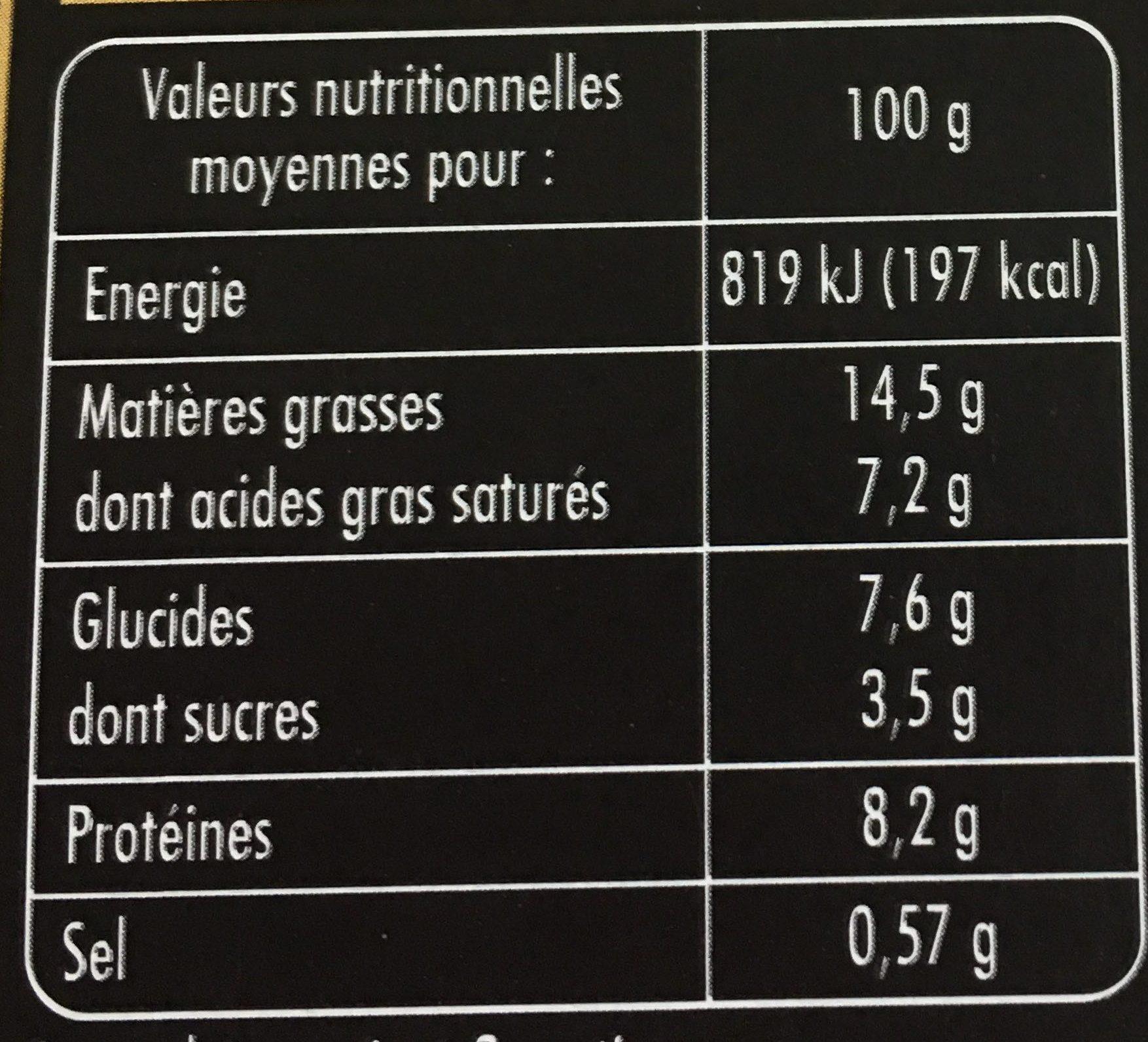 Le Millefeuille Saumon Fumé, Fromage Blanc & Décor de Petits Légumes - Nutrition facts - fr